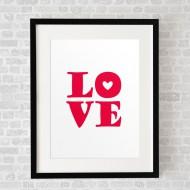 LOVELoveRed_FramedBlack