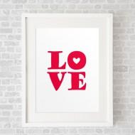 LOVELoveRed_FramedWhite