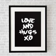 LoveAndHugsBlack_FramedBlack
