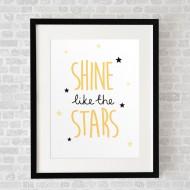 ShineLikeTheStarsWhite_FramedBlack