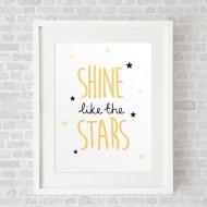 ShineLikeTheStarsWhite_FramedWhite