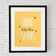 ShineLikeTheStarsYellow_FramedBlack
