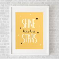 ShineLikeTheStarsYellow_FramedWhite